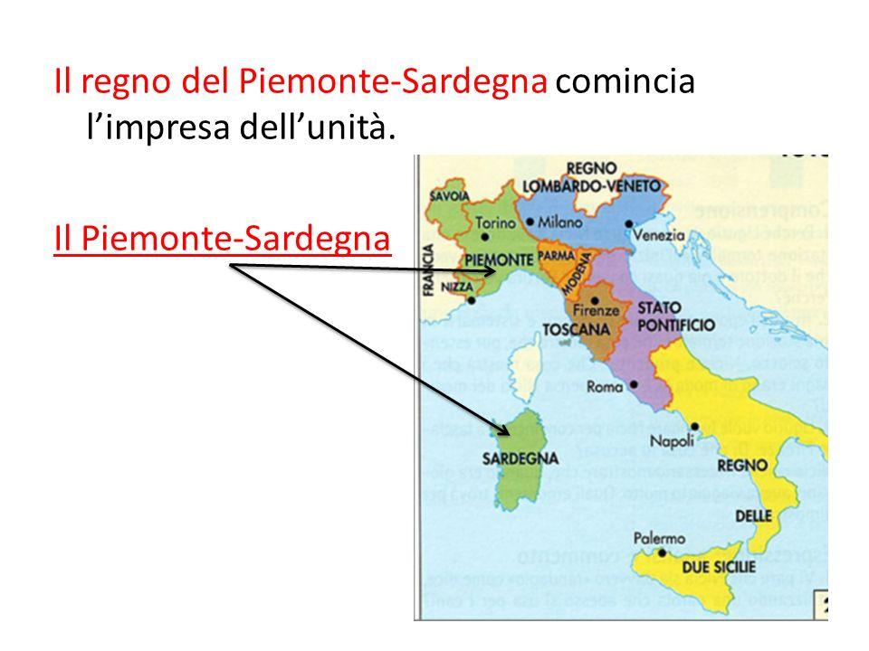 Il regno del Piemonte-Sardegna comincia l'impresa dell'unità
