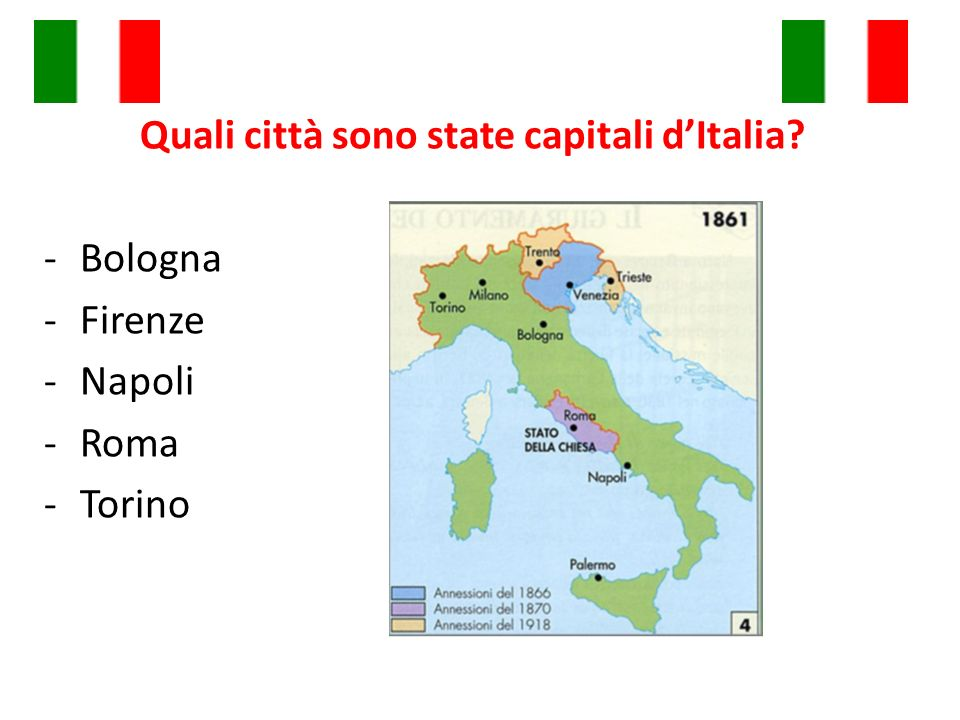Quali città sono state capitali d'Italia