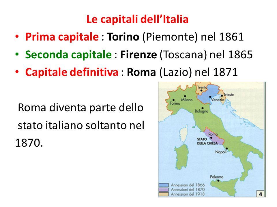 Le capitali dell'Italia