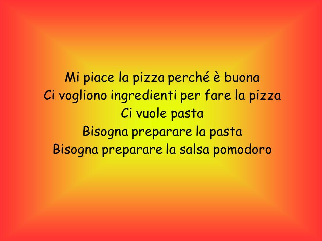 Mi piace la pizza perché è buona