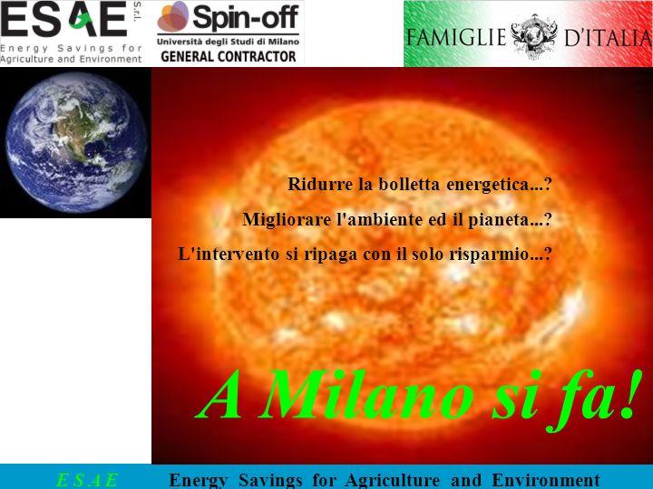A Milano si fa! Ridurre la bolletta energetica...