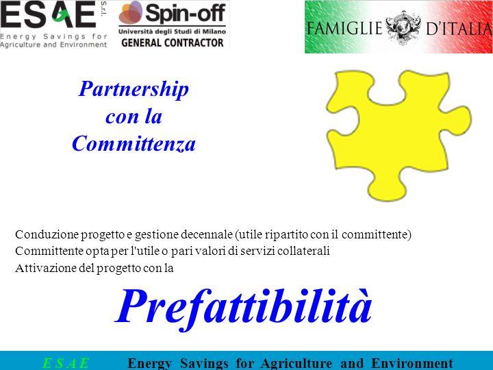 Prefattibilità Partnership con la Committenza