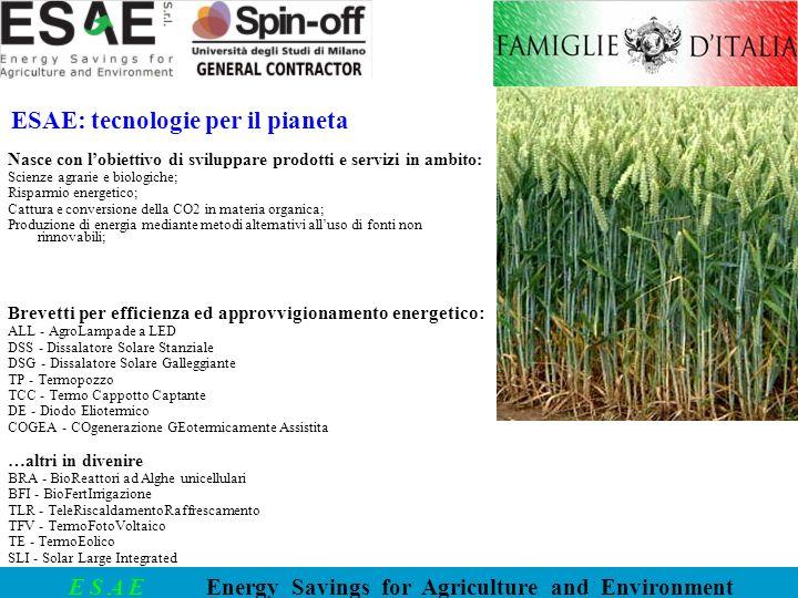 ESAE: tecnologie per il pianeta