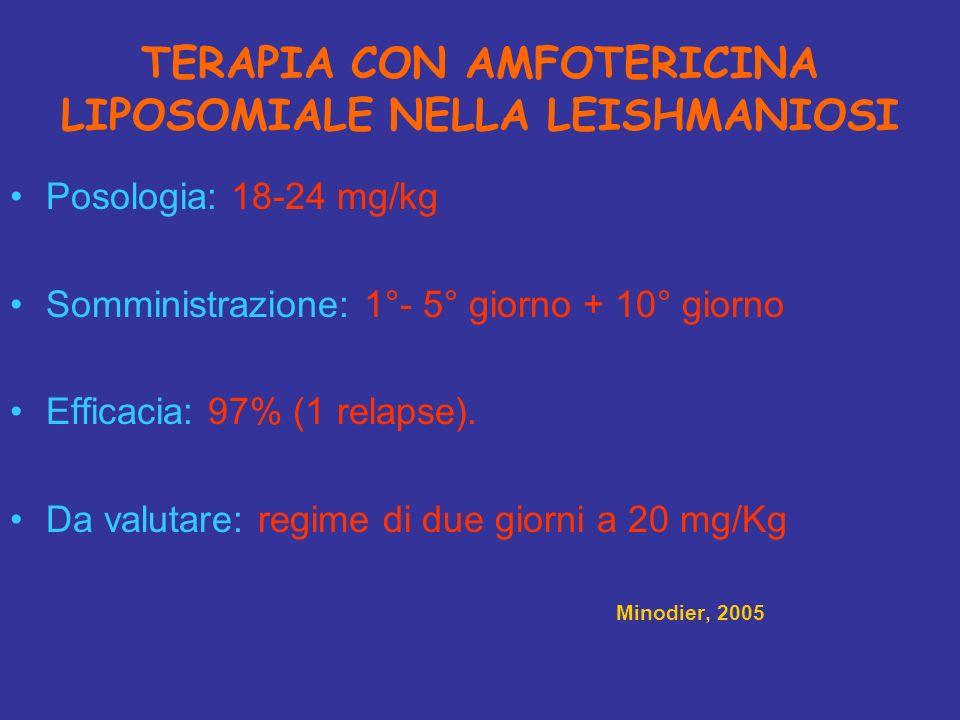 TERAPIA CON AMFOTERICINA LIPOSOMIALE NELLA LEISHMANIOSI