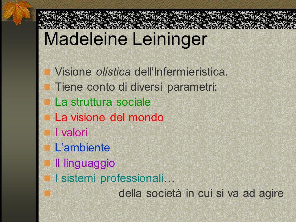 Madeleine Leininger Visione olistica dell'Infermieristica.