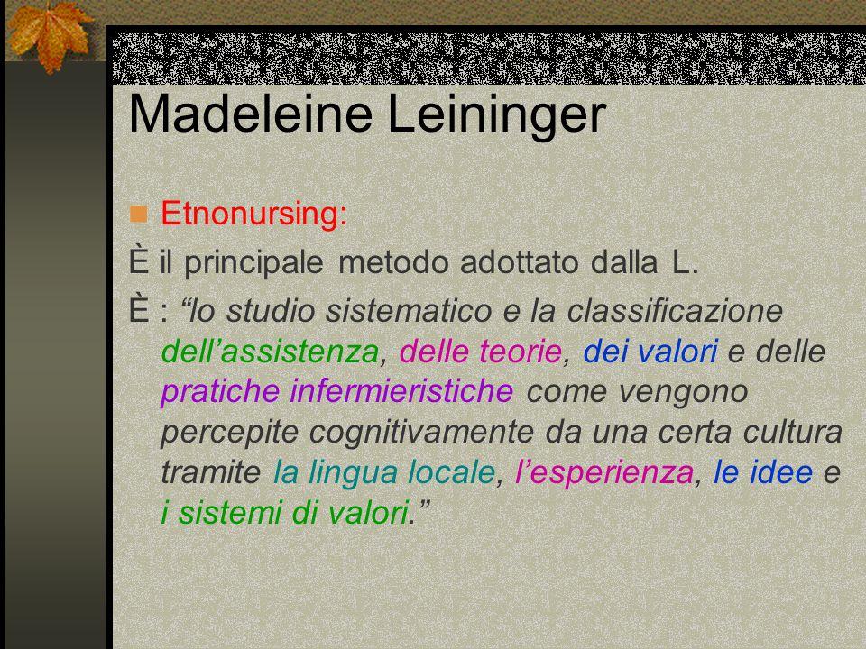 Madeleine Leininger Etnonursing: