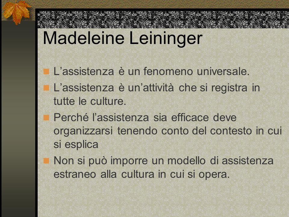 Madeleine Leininger L'assistenza è un fenomeno universale.