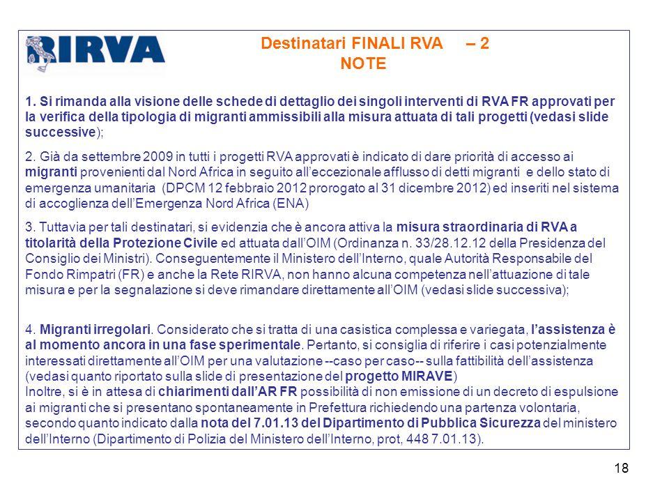 Destinatari FINALI RVA – 2