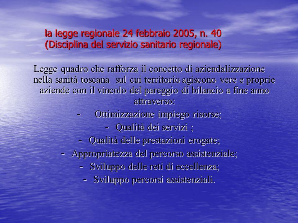 Ottimizzazione impiego risorse; Qualità dei servizi ;