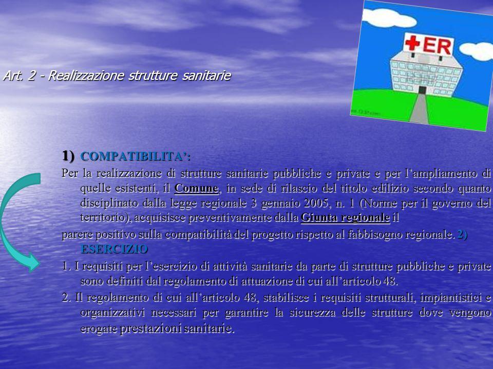 Art. 2 - Realizzazione strutture sanitarie