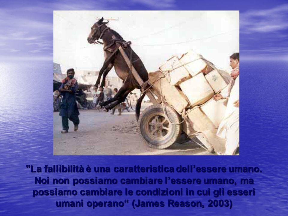 La fallibilità è una caratteristica dell'essere umano.