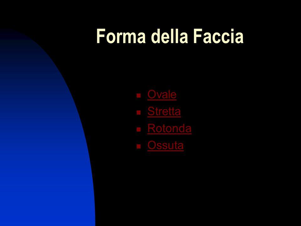 Forma della Faccia Ovale Stretta Rotonda Ossuta