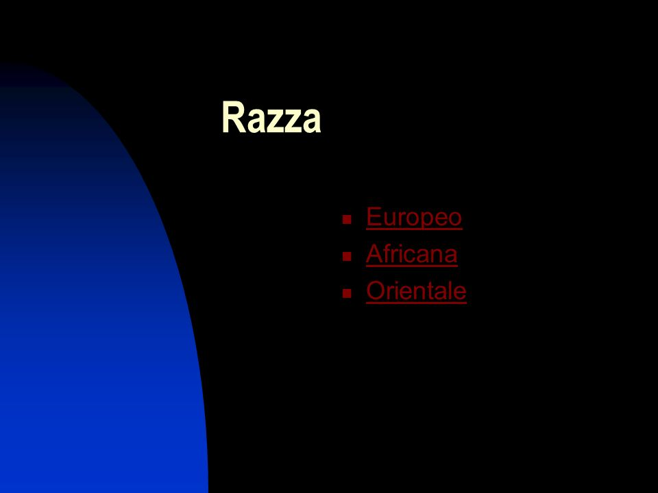Razza Europeo Africana Orientale