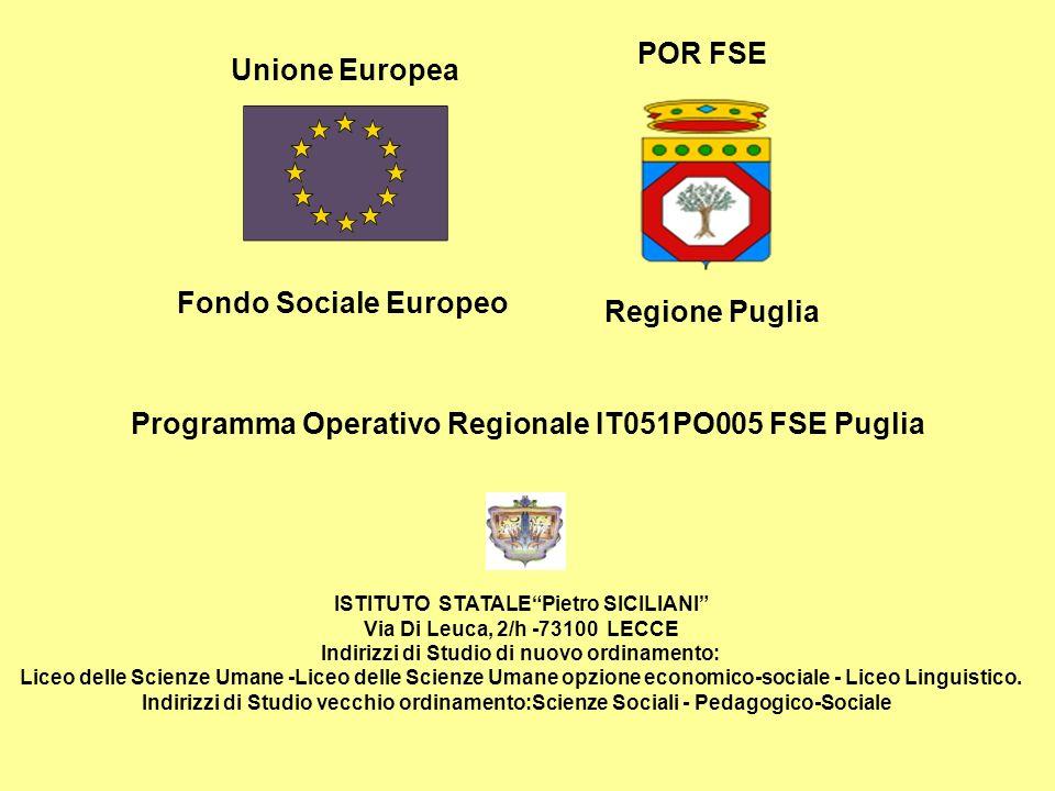 Programma Operativo Regionale IT051PO005 FSE Puglia