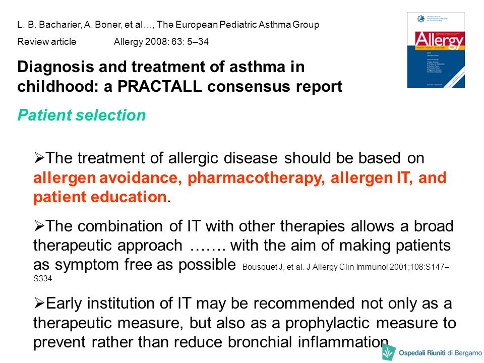 L. B. Bacharier, A. Boner, et al…, The European Pediatric Asthma Group