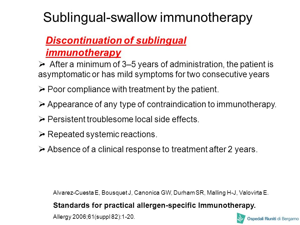 Sublingual-swallow immunotherapy