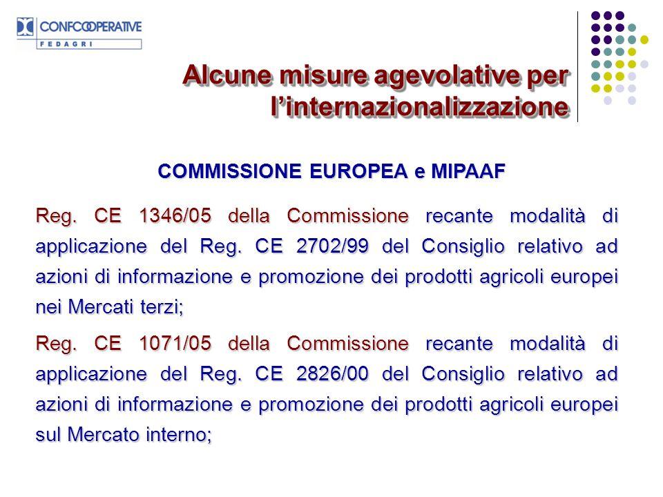 COMMISSIONE EUROPEA e MIPAAF
