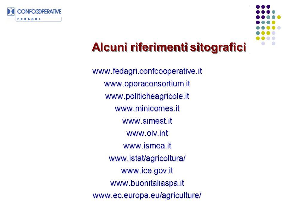 Alcuni riferimenti sitografici