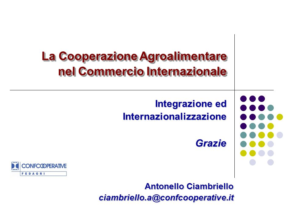 Antonello Ciambriello ciambriello.a@confcooperative.it