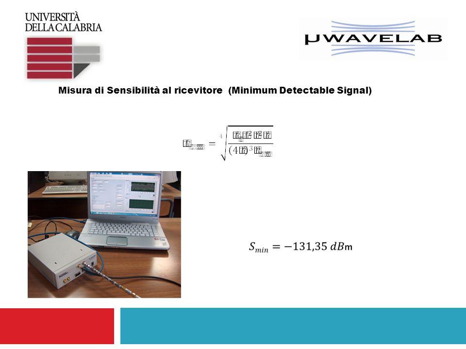 Misura di Sensibilità al ricevitore (Minimum Detectable Signal)