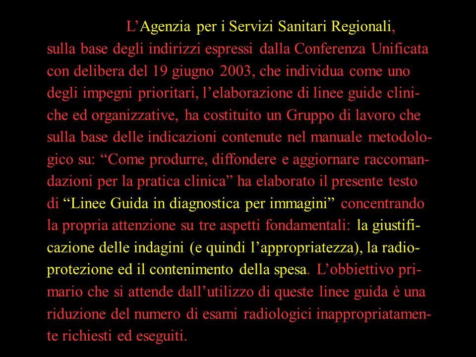 L'Agenzia per i Servizi Sanitari Regionali,