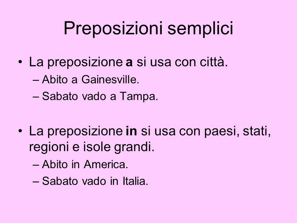 Preposizioni semplici