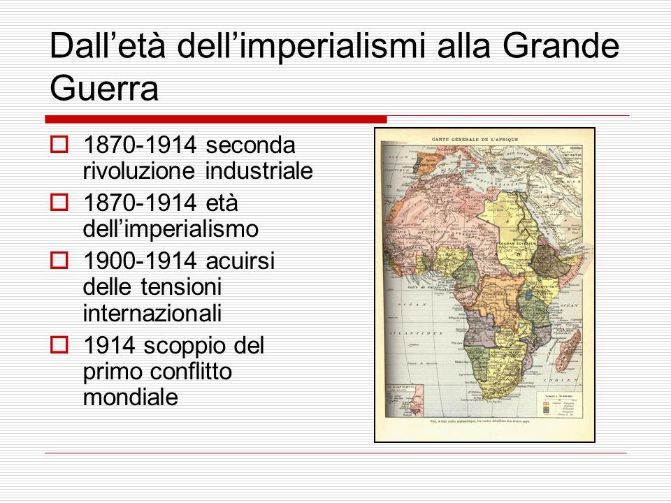 Dall'età dell'imperialismi alla Grande Guerra