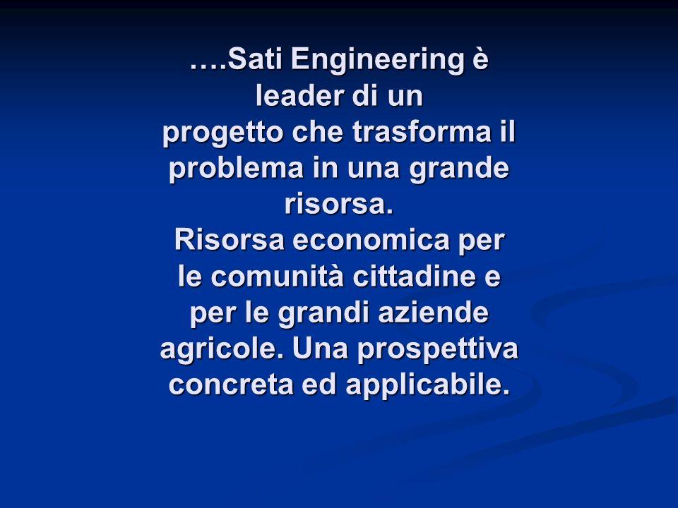 ….Sati Engineering è leader di un progetto che trasforma il problema in una grande risorsa.