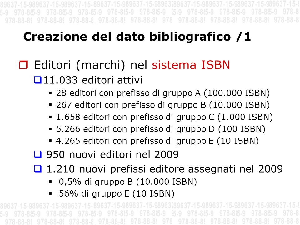 Creazione del dato bibliografico /1