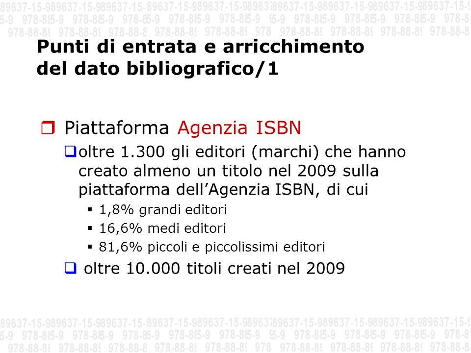 Punti di entrata e arricchimento del dato bibliografico/1