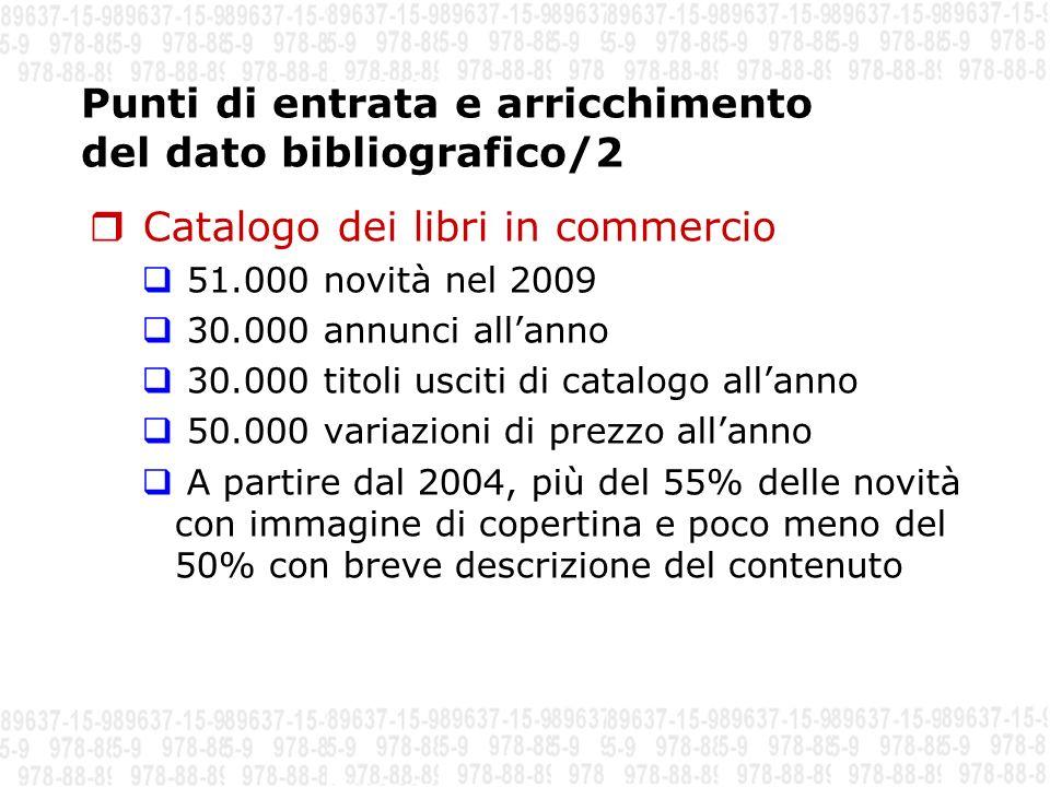Punti di entrata e arricchimento del dato bibliografico/2