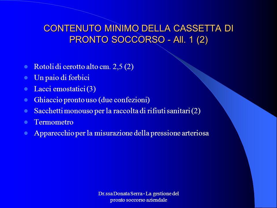 CONTENUTO MINIMO DELLA CASSETTA DI PRONTO SOCCORSO - All. 1 (2)