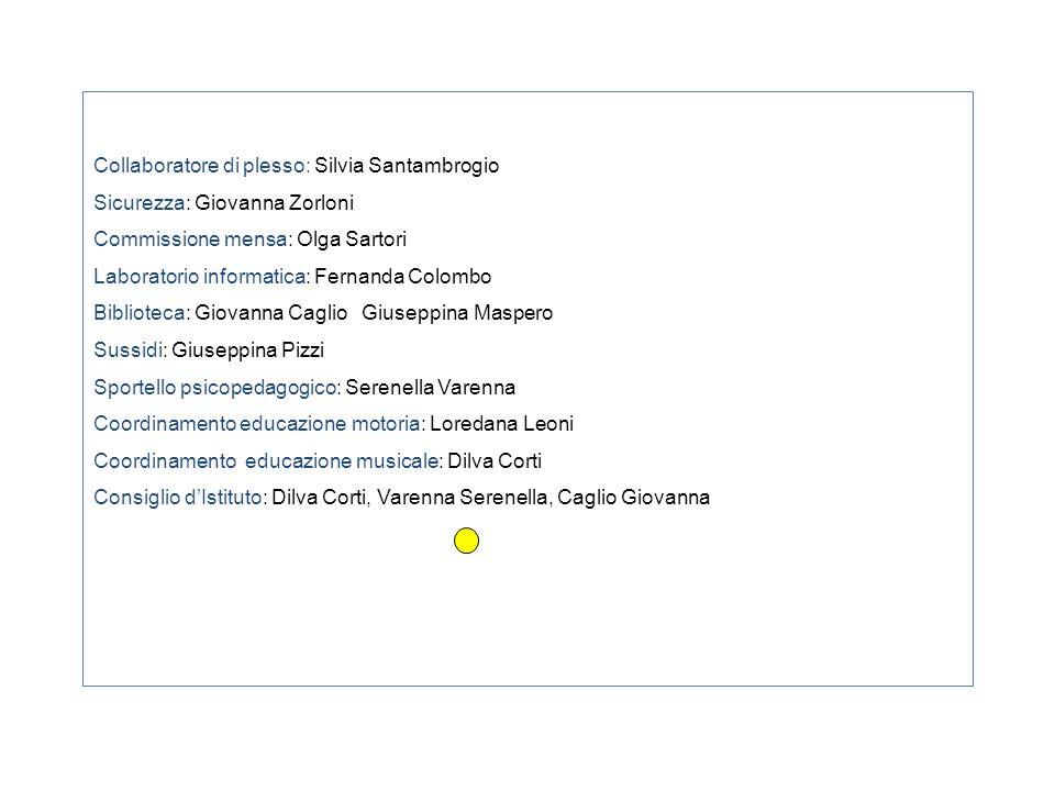 Collaboratore di plesso: Silvia Santambrogio