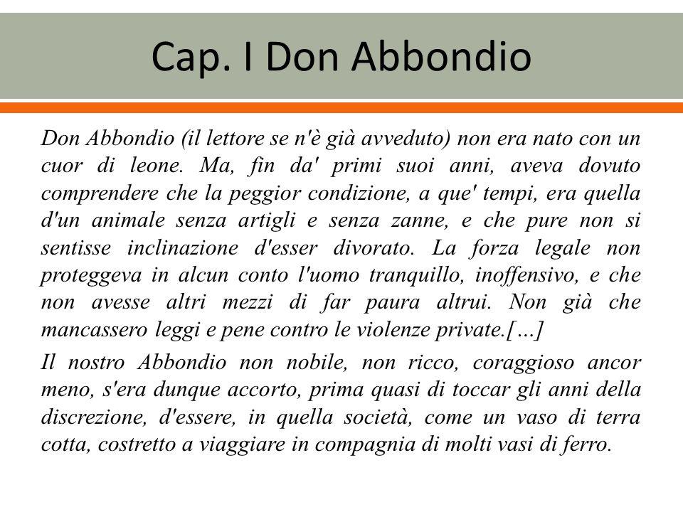 Cap. I Don Abbondio