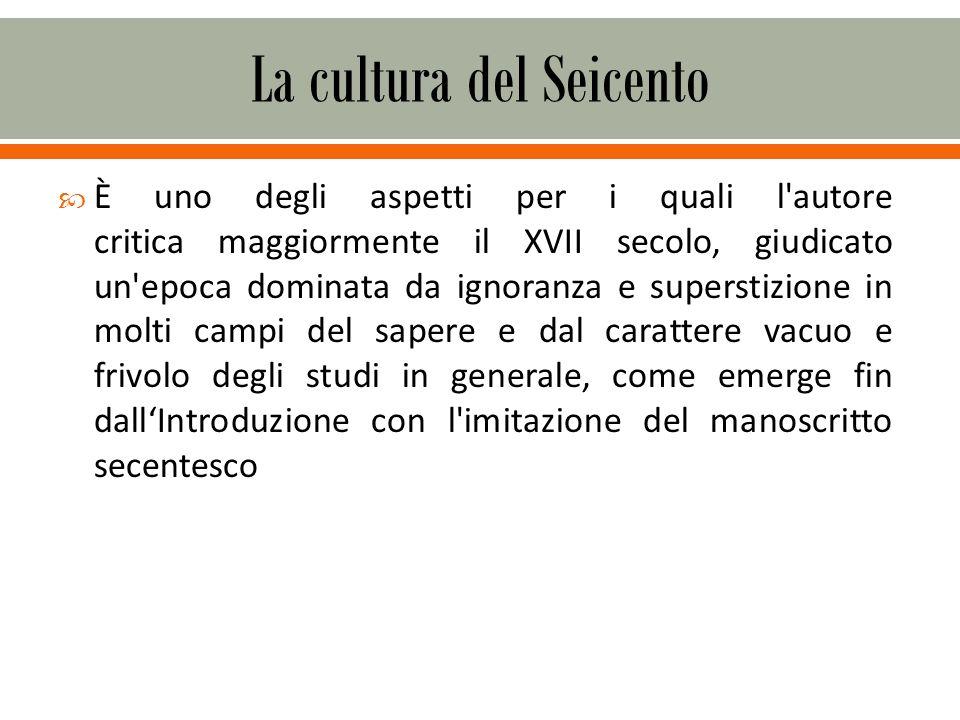 La cultura del Seicento
