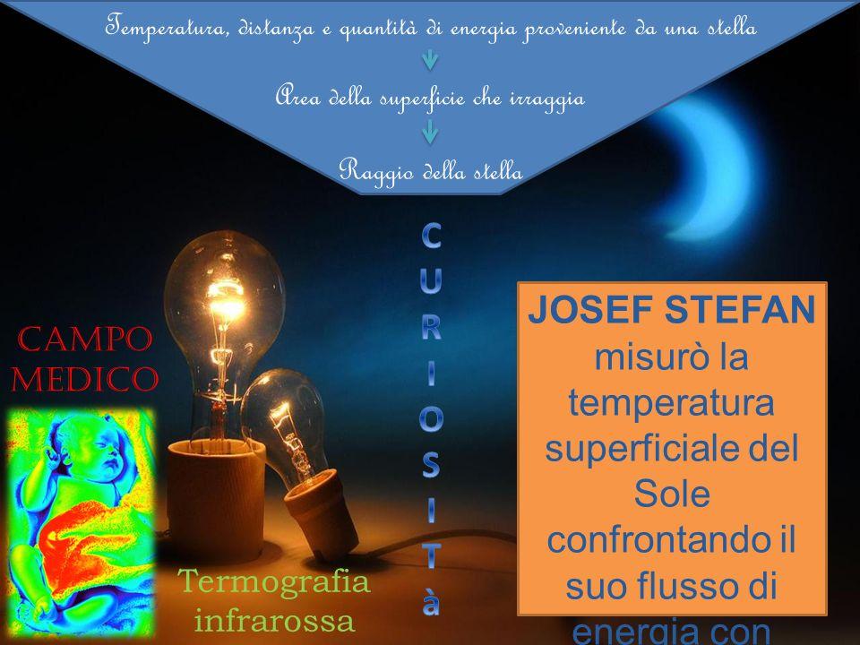 Temperatura, distanza e quantità di energia proveniente da una stella