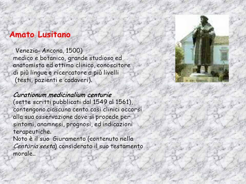 Amato Lusitano (Venezia- Ancona, 1500)
