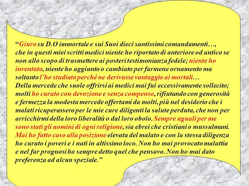 Giuro su D.O immortale e sui Suoi dieci santissimi comandamenti…,