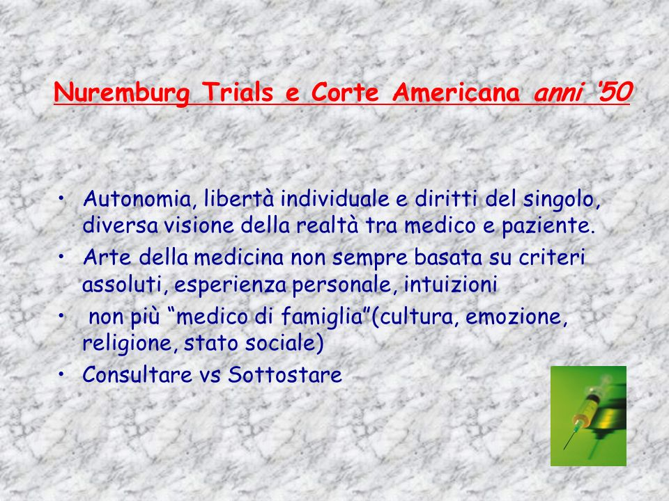 Nuremburg Trials e Corte Americana anni '50
