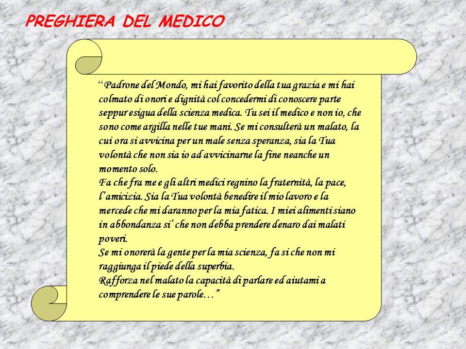 PREGHIERA DEL MEDICO