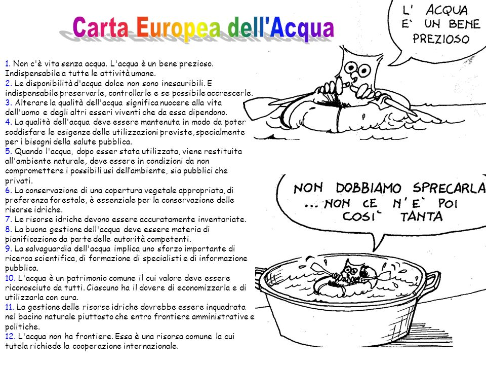 Carta Europea dell Acqua