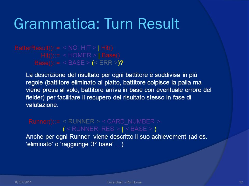 Grammatica: Turn Result