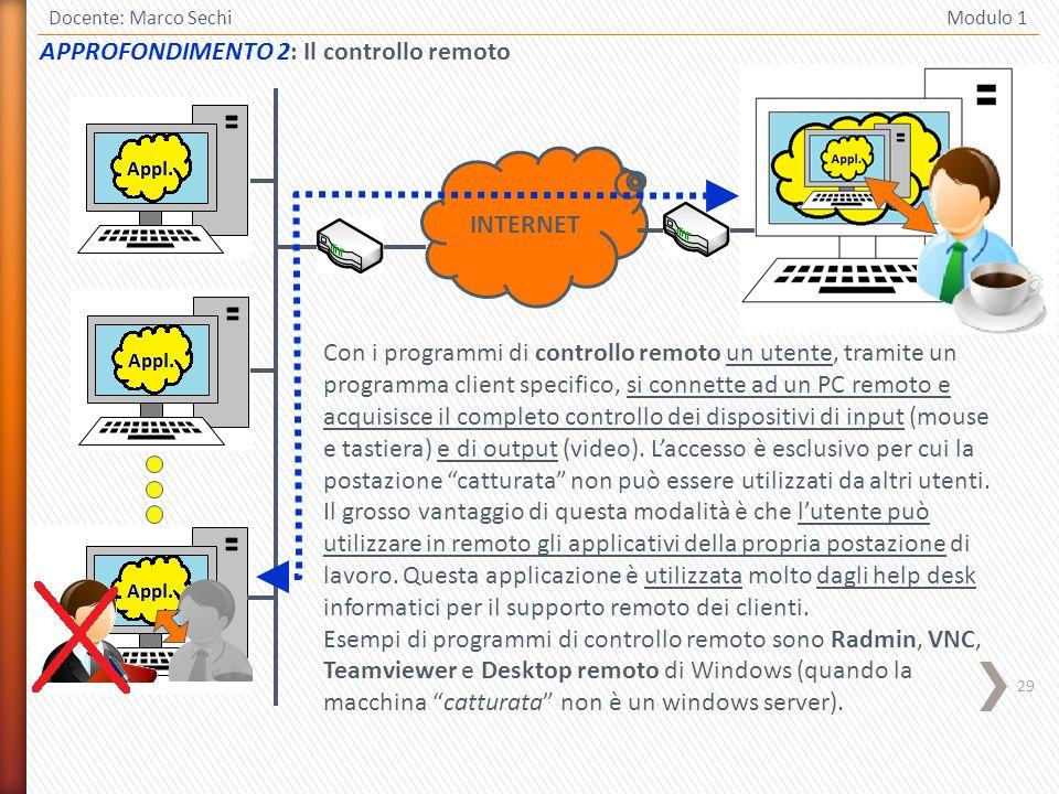 APPROFONDIMENTO 2: Il controllo remoto