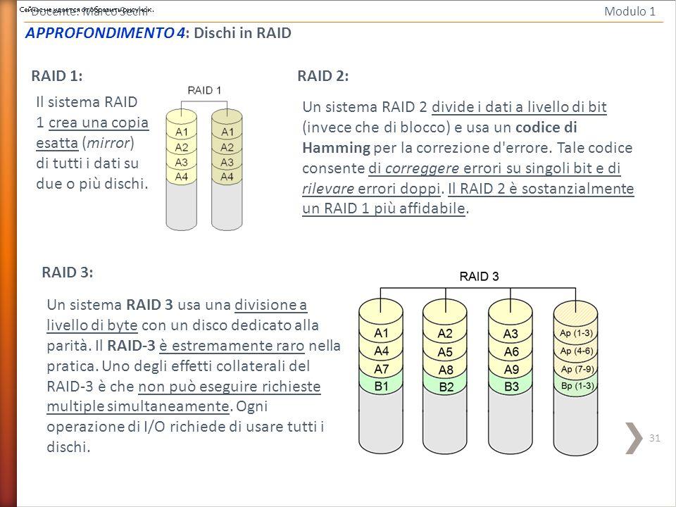 APPROFONDIMENTO 4: Dischi in RAID