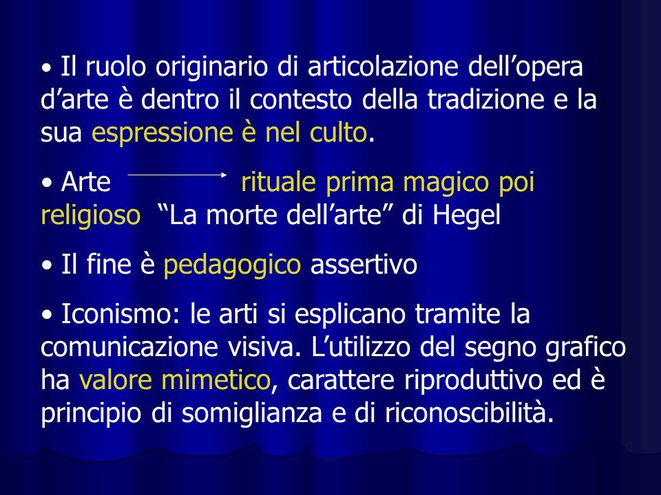 Arte rituale prima magico poi religioso La morte dell'arte di Hegel