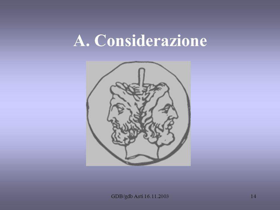 A. Considerazione GDB/gdb Asti 16.11.2003