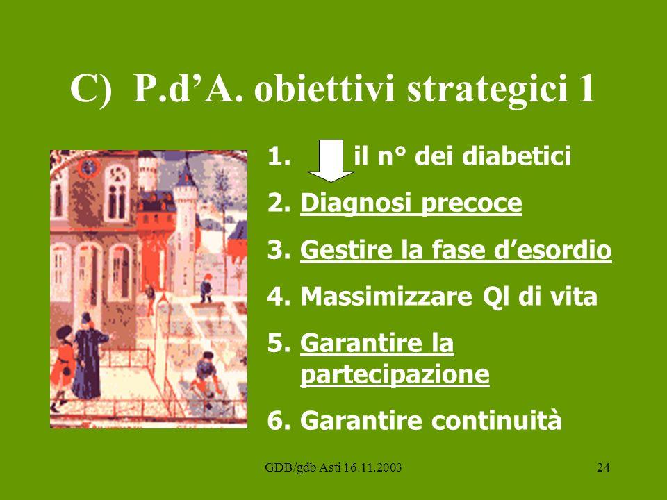C) P.d'A. obiettivi strategici 1