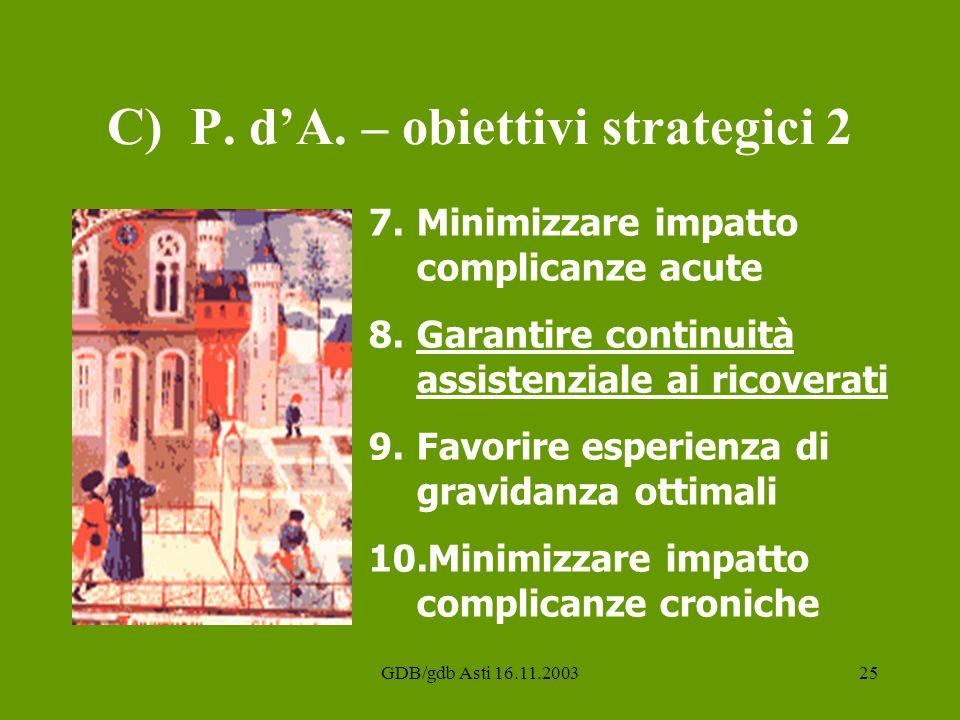 C) P. d'A. – obiettivi strategici 2