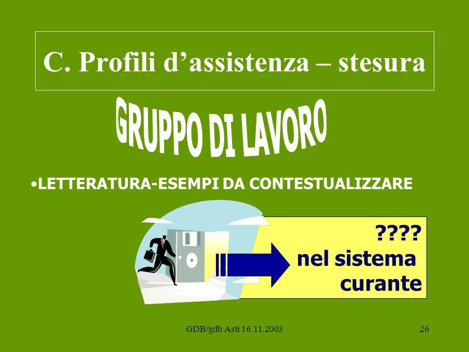 C. Profili d'assistenza – stesura