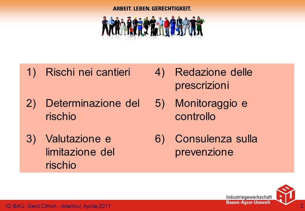 Redazione delle prescrizioni 2) Determinazione del rischio 5)
